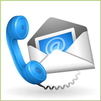 The contacts - Contact e-mail phone